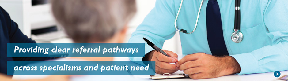 Providing clear referral pathways across specialisms and patient need